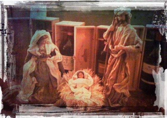 "Presepe / The Holy Family""In vino veritas"""